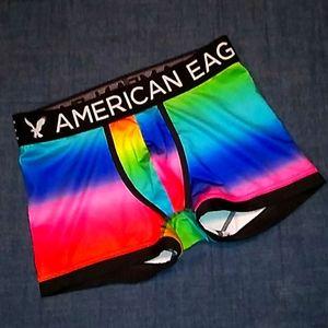 American eagle boxers rainbow multicolored